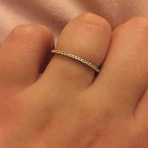 Silver ring.